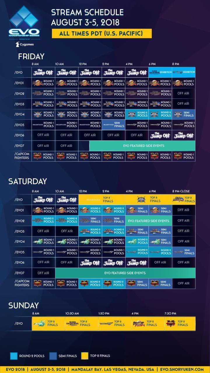 evo-schedule