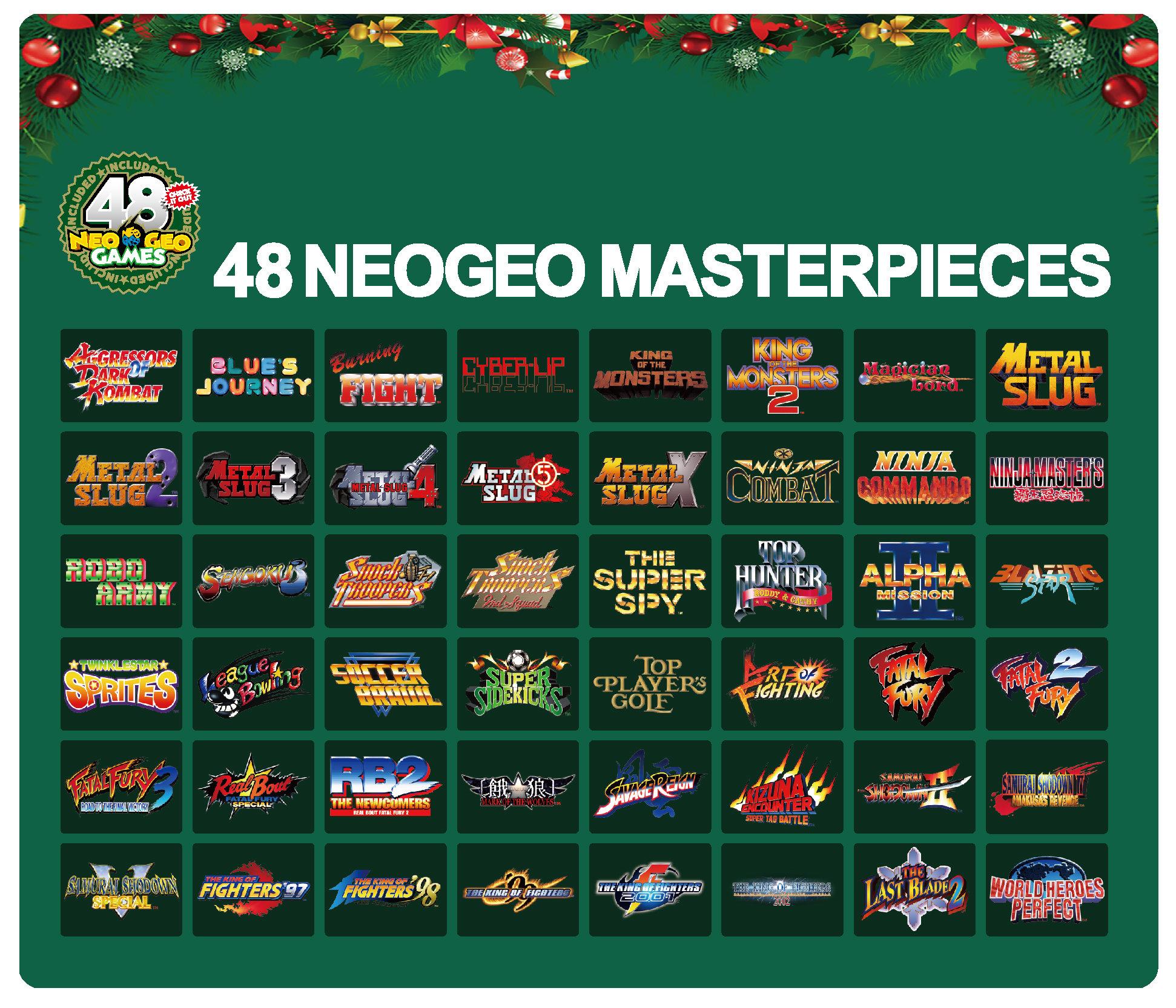 neo-geo-mini-edition-noel-liste-jeux