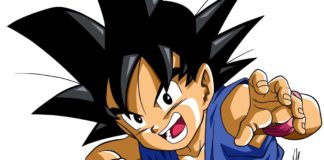 Le visage souriant de Goku dans Dragon Ball GT