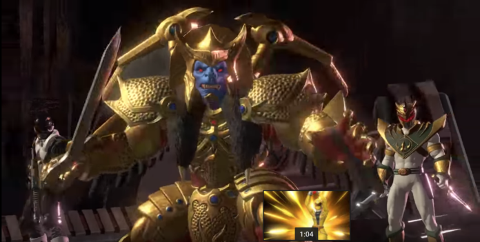 Le gorille en armure doré du jeu Power Rangers: Battle for the Grid