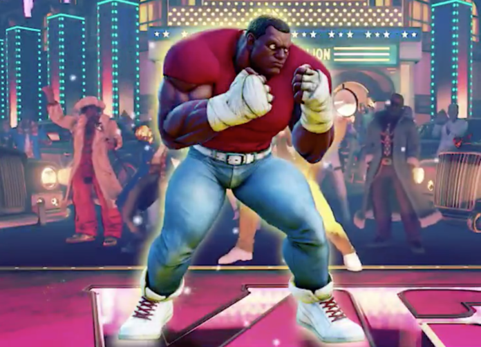 Balrog de Street Fighter V avec un costume Mike