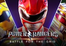 L'affiche du test de Power Rangers: Battle for the Grid