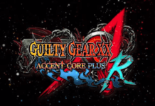 Le logo de guilty gear accent core plus r sur nintendo switch