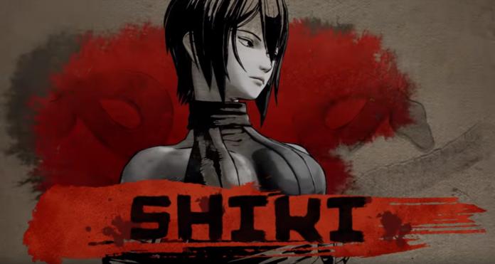 Le personnage Shiki dans sa bande-annonce pour le futur jeu Samurai Shodown