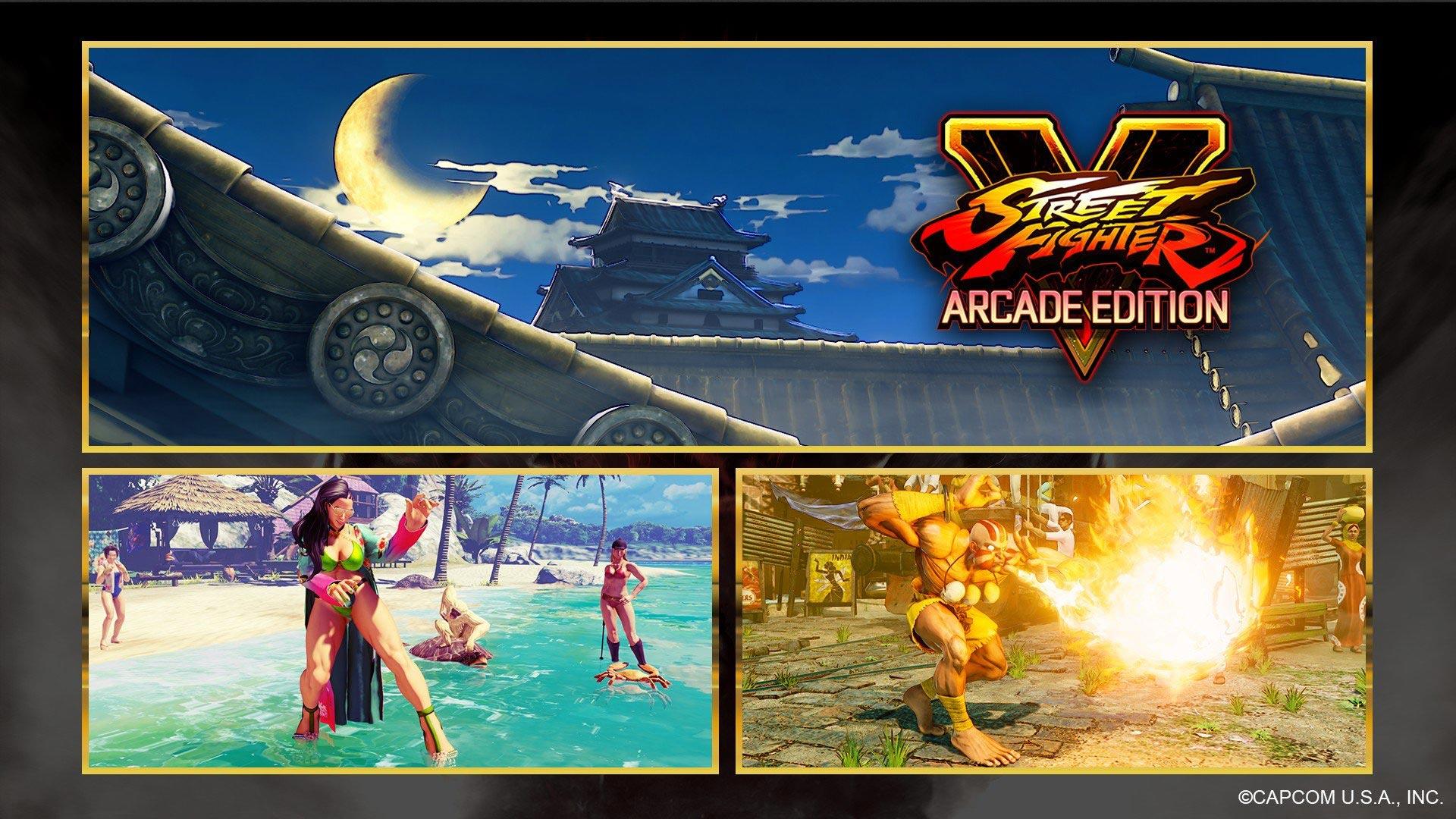 Le chateau suzaku, le nouveau maillot de bain de Laura et le costume classique de Dhalsim dans Street Fighter V