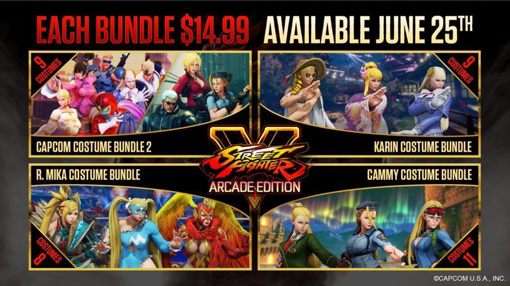 Les différents Bundle de Street Fighter V pour la mise à jour du 25 juin