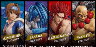 Les quatre personnages additionnels de Samurai Shodown pour le premier season pass