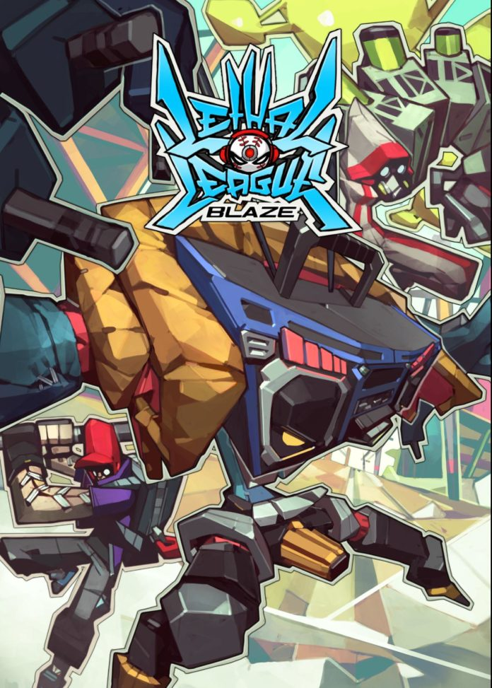 L'affiche de la version console du jeu Lethal League Blaze