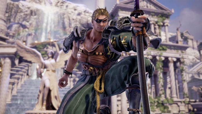 Le personnage de Soul Calibur VI Mitsurugi le genou au sol et le katana devant lui