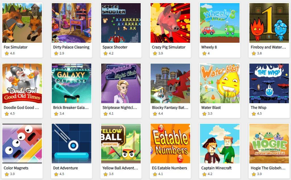 Liste de Jeux Fizgames