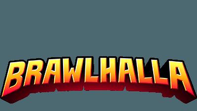 Le logo du jeu Brawlhalla en orange