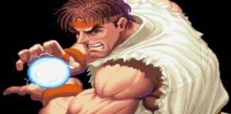 Ryu faisant un Hadoken dans l'introduction de Super Street Fighter II