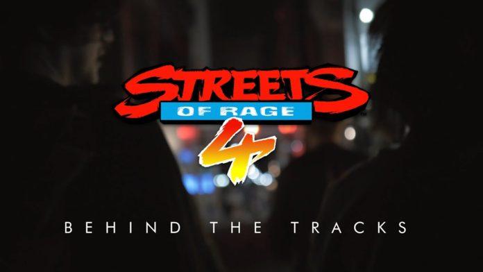 Le logo de la vidéo officielle Behind the Tracks sur les omcpositeurs du jeu Streets of Rage 4