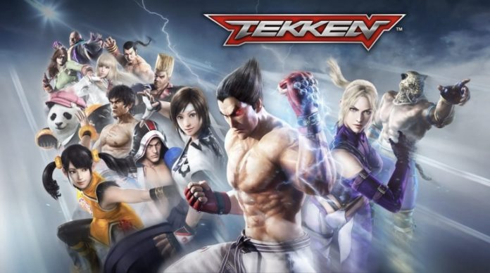 Les combattants du jeu Tekken Mobile avec le logo en haut