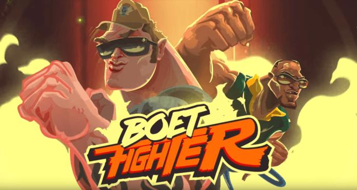 Les deux protagonistes de Boet Fighter : Hard Eddy et Mod-C