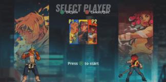 L'écran de sélection de personnages de Streets of Rage 4 sur la vidéo de gameplay de la PAX West