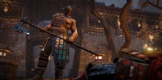 Un viking armé d'une hache devant un cadavre - For Honor gratuit