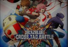 Le logo du jeu Blazblue cross tag battle avec les personnages additionnels