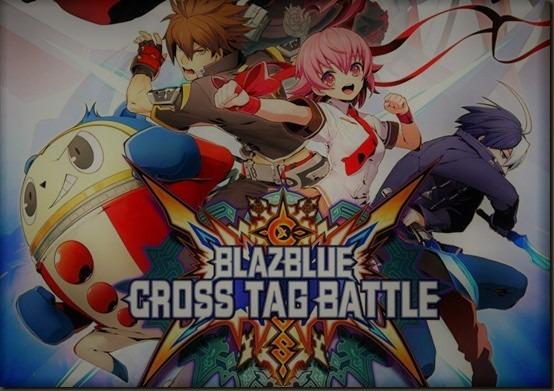 Le logo du jeu Blazblue cross tag battle avec les personnages additionnels