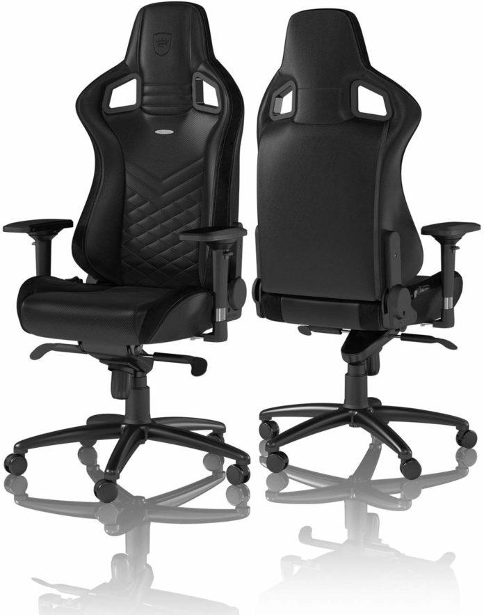 la chaise gamer noblechairs Epic de face et de dos