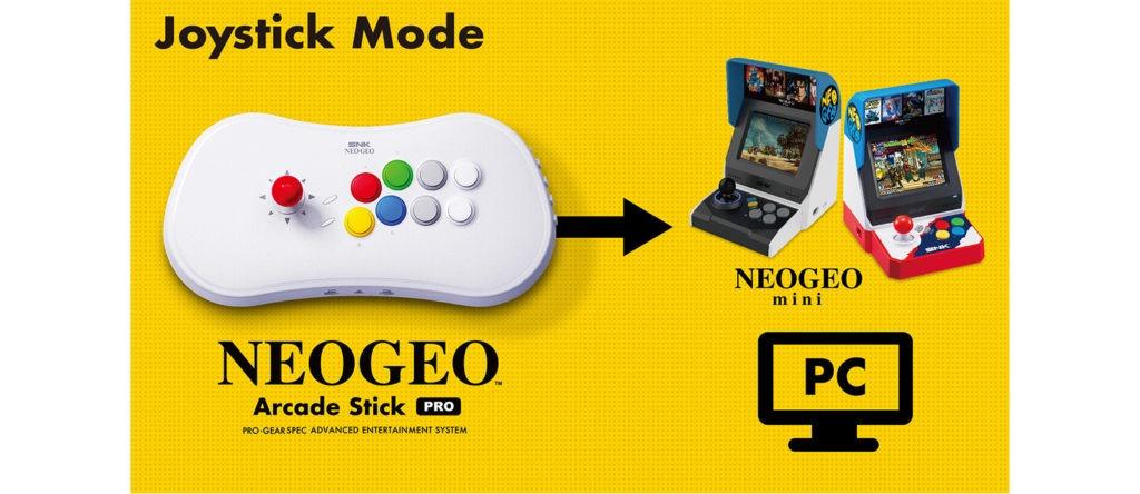Compatibilité entre le NeoGeo Arcade Stick Pro et la NeoGeo Mini