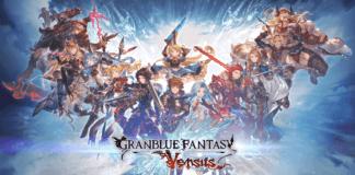 Tous les personnages de base de Granblue: Fantasy Versus avec le logo