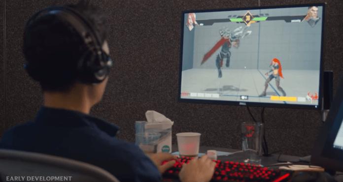 Une personnage portant un casque audio et jouant au jeu de Riot Games Project L