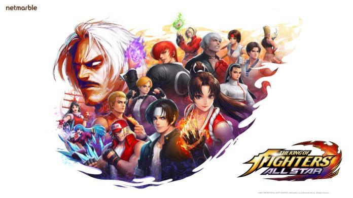 L'affiche du jeu mobile The Kinf of Fighters AllStar