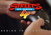 Le logo du making of « behind the gameplay » sur le jeu à sortir Streets of Rage 4