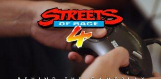 Le logo du making of « behind the gameplay » sur le jeu à sortir Streets of Rage 4