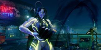 Le futur personnage additionnel de Street Fighter V Seth en train d'effectuer son V-Skill 1