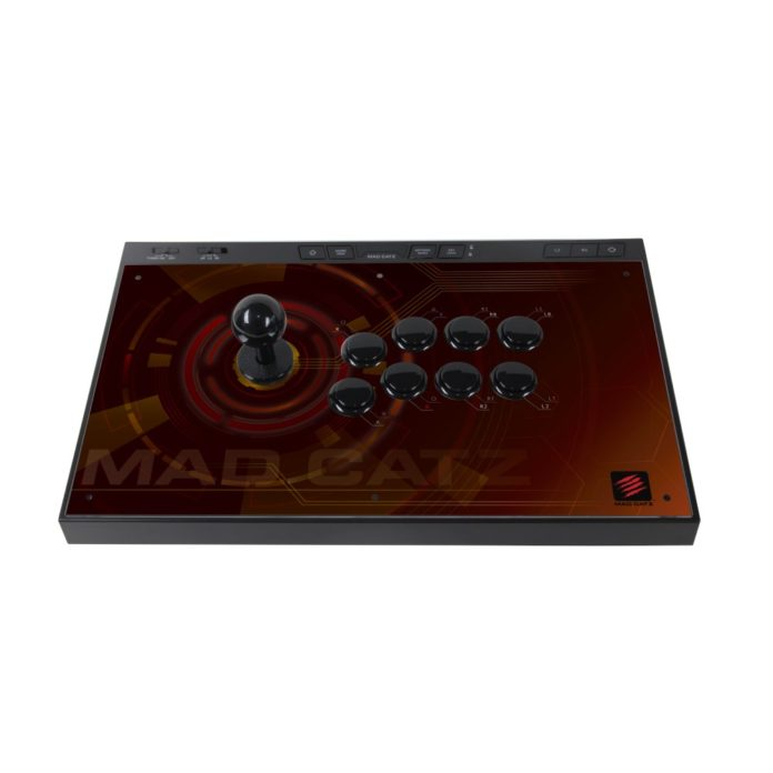 Le futur fightstick de Mad Catz : l'E.G.O. de couleur bordeaux / Marron