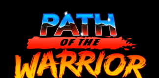 Le logo du jeu en réalité virtuelle path of the warrior sur Oculus Quest et Oculus Rift