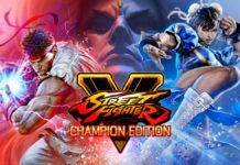Le logo de Street Fighter V: Champion Edition avec Ryu et Chun-Li