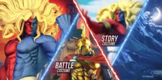 Les différents costumes de Gill dans Street Fighter V