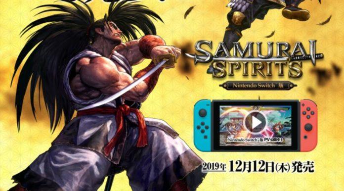 Le personnage Haohmaru de Samurai Shodown pour la sortie du jeu sur Nintendo Switch