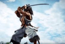 Le personnage de Samurai Shodown Haohmaru dans sa bande-annonce sur SoulCalibur VI levant son katana