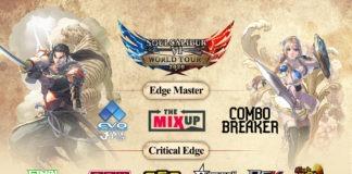 Illustration du SoulCalibur World Tour 2020 affichant les logos des différentes compétitions