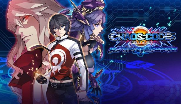 Les trois personnages principaux de chaos code: new sign of catastrophe sur switch