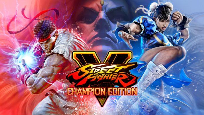 L'affiche de street fighter v: Champion Edition avec Ryu à gauche et CHun-Li à droite