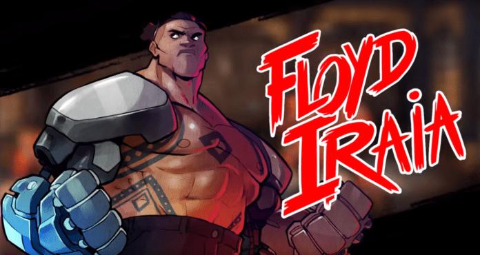 La quatrième combattant de Streets of Rage 4 Floyd Iraia avec ses bras d'acier