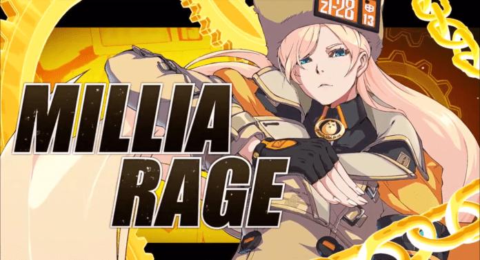 Le personnage de Guilty Gear: Strive Millia Rage