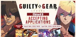 Image officielle de la bêta fermée de Guilty Gear: Strive avec le visage de Sol Badguy à gauche et celui de Ky Kiske sur la droite
