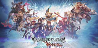 Le logo de Granblue Fantasy: Versus avec tous les personnages de base