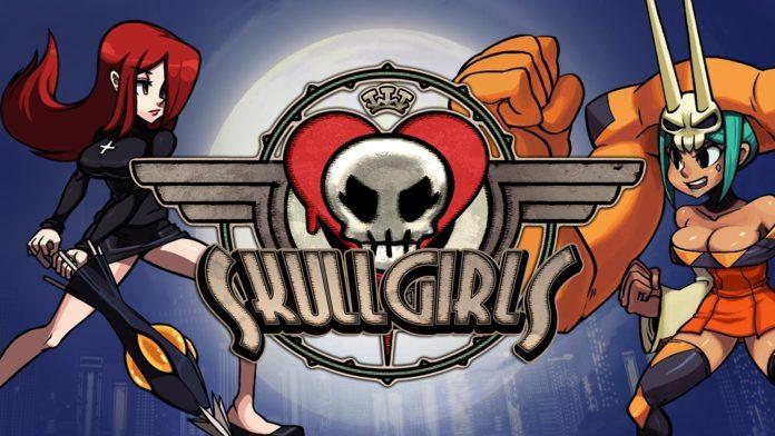 Le logo du jeu Skullgirls pour la mise à jour GGPO Test Branch en bêta