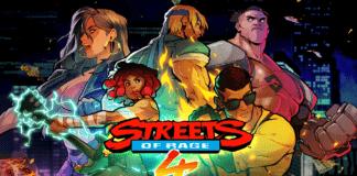 Le logo de Streets of Rage 4 avec tous les personnages pour son test