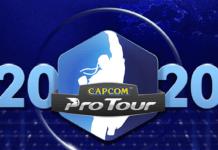 Le logo du Capcom Pro Tour 2020 au centre avec Seth et Gill de Street Fighter V de chaque côté