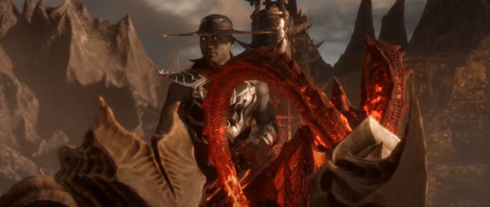 Le personnage de Mortal Kombat 11 Kung Lao sur une monture à cornes
