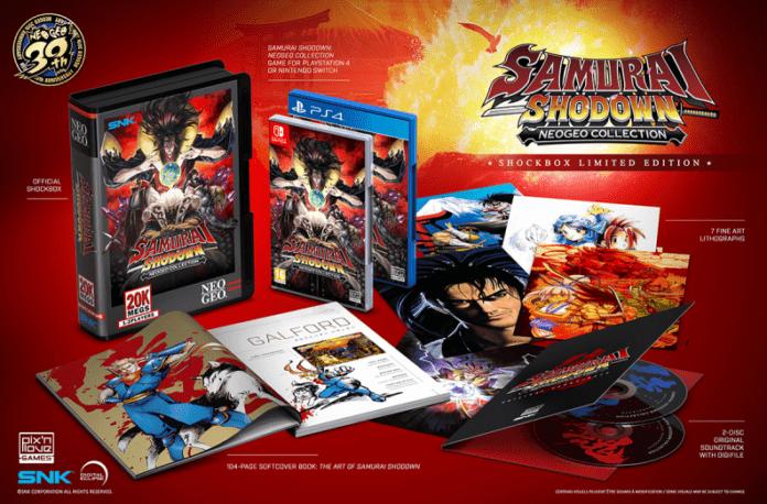 L'ensemble des produits contenus dans l'édition collector de Samurai Shodown NeoGeo Collection par Pix'n Love
