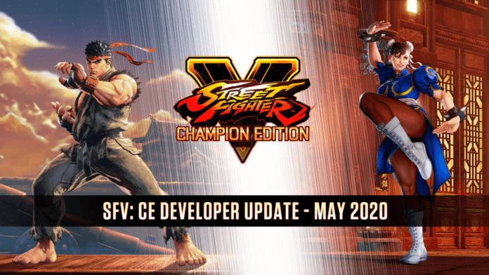 Le logo de Street Fighter V Champion Edition avec Ryu et Chun-LI de chaque côté